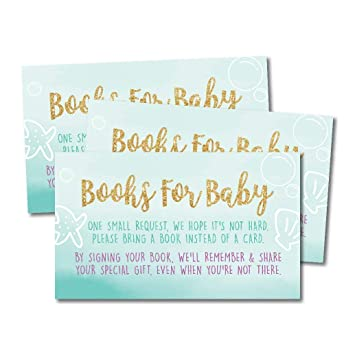 Amazon Com 25 Mermaid Books For Baby Request Insert Card For Girl