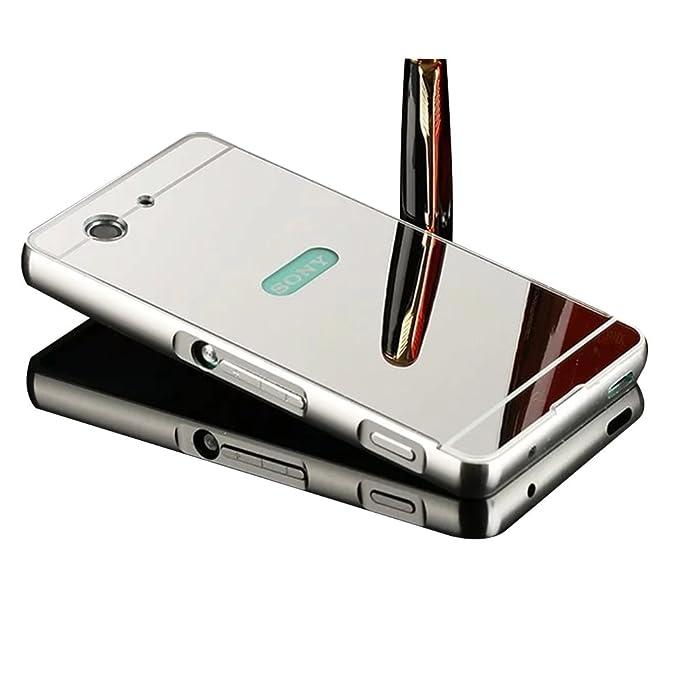 Shinetop - Carcasa para Sony Xperia M5, diseño de espejo con ...