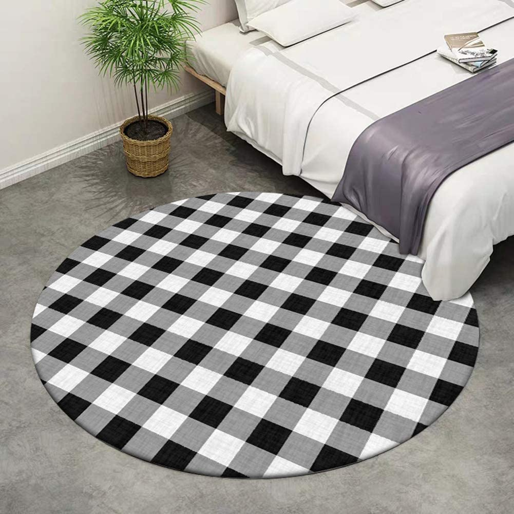 RUGSMAT Sports Non-Slip Area Rug Pad Round,Multiple Basketballs Spheres Baby Room Decor Round Carpets Diameter-55