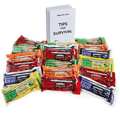 - Millennium Energy Bars Assorted Flavors 18- pack Including Emergency Guide