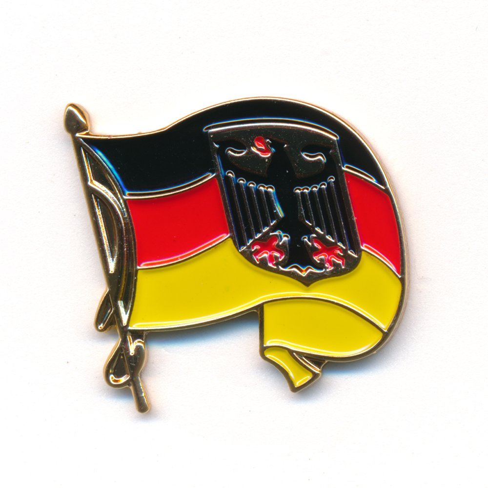 Wehende Badge  –   Pin German Flag Waving Germany Flag 0233 Import / Hegerring