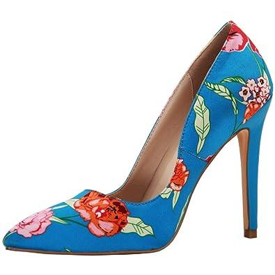 Floral High Heel Pumps