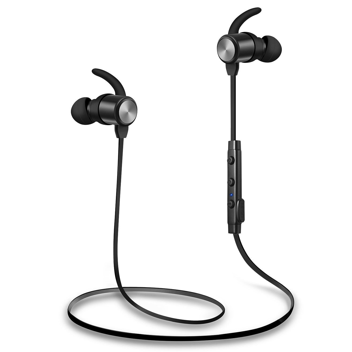 Bluetooth Headphones, Wireless Headphones, TOTU Sweatproof High Fidelity Stereo Bluetooth Earbuds Lightweight and Noise Canceling Wireless Earbuds Fit for Workout with Built-in Magnet