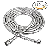 Long Shower Hose 119inch Bathroom HandHeld Showerhead Hose Extension Replacement Part with Brass Coupler,Polished Chrome