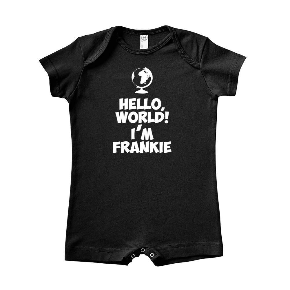 World Personalized Name Baby Romper Im Frankie Mashed Clothing Hello
