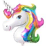 jianfeng Rainbow Einhorn Folienballon Tier Pferd Dekoration für Geburtstag Party Wdding Kind Spielzeug, mehrfarbig, Einheitsgröße