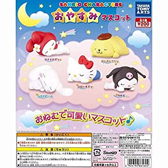 8995f604b820 Amazon.com  Anime Sanrio Good Night Mascot Friends Hello Kitty My Melody  Pompompurin Cinnamoroll and Kuromi 5pc Figure Sun Moon Mascot Gashapon  Collectible ...