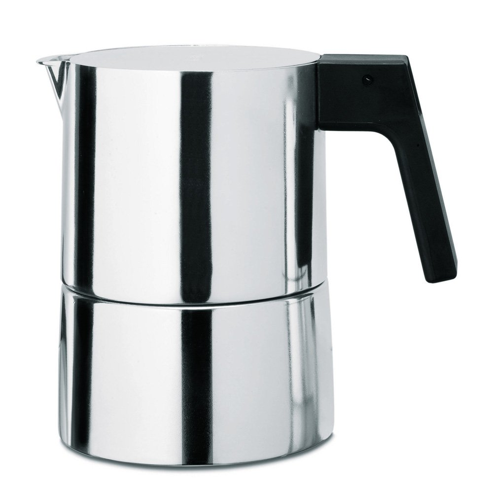 Alessi PL01/6 ''Pina'' 6 Piece Espresso Coffee Maker Cups, Silver