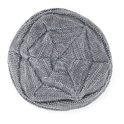 Diamante Gorro Invierno Hilado Hombres al Plus punto de Hedging aire Negro Tejido de caliente Versión pelusa lana Sombrero Mantener libre de coreana marea la AB xFwTnvq0