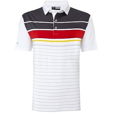 Callaway Golf 2016 para hombre ingeniero rayas Opti-Dri peformance ...