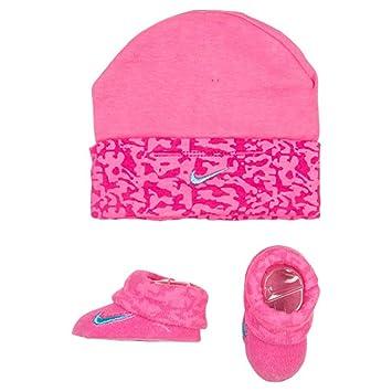 e1c0a197f Amazon.com: Nike Baby Girl's Swoosh Camo Print Hat & Booties Set 0 ...
