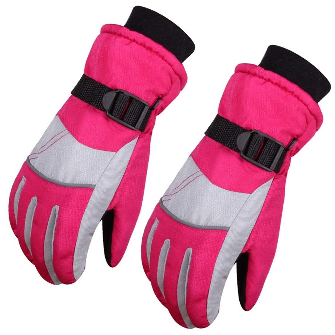 FamyFirst 1 Pair Ski Gloves Waterproof Windproof Glove for Winter Outdoor Sport