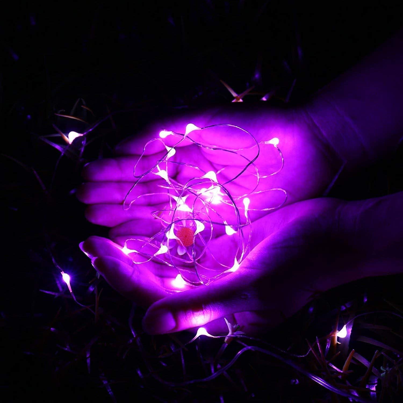 Weihnachten Beleuchtung Deko Flaschenlicht f/ür Hochzeit Qedertek LED Lichterkette mit Batterie Party 12 St/ück Kupferdraht Lichterkette Bunt 2M 20 LED Kommen mit 6 Ersatzbatterien