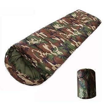 Dotación de camuflaje saco de dormir de algodón caliente para acampar al aire libre para adultos