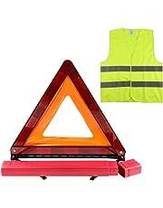 Zacro Kit Triangle Gilet Homologue(42.5× 42.5cm), Kit Auto sécurite