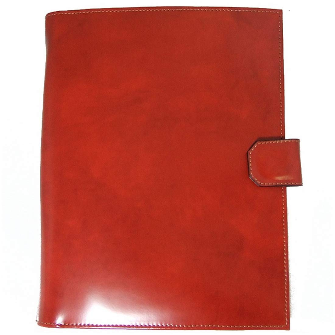 Pratesi Unisex Personalized Custom Initials Embossing Italian Leather Andrea del Sarto R A4 Portfolio Notepad Holder in Brown