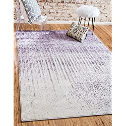 Unique Loom Del Mar Collection Contemporary Transitional Purple Area Rug (4' x 6')