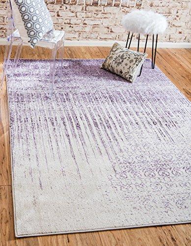 Unique Loom Del Mar Collection Contemporary Transitional Purple Area Rug (3' x 5')