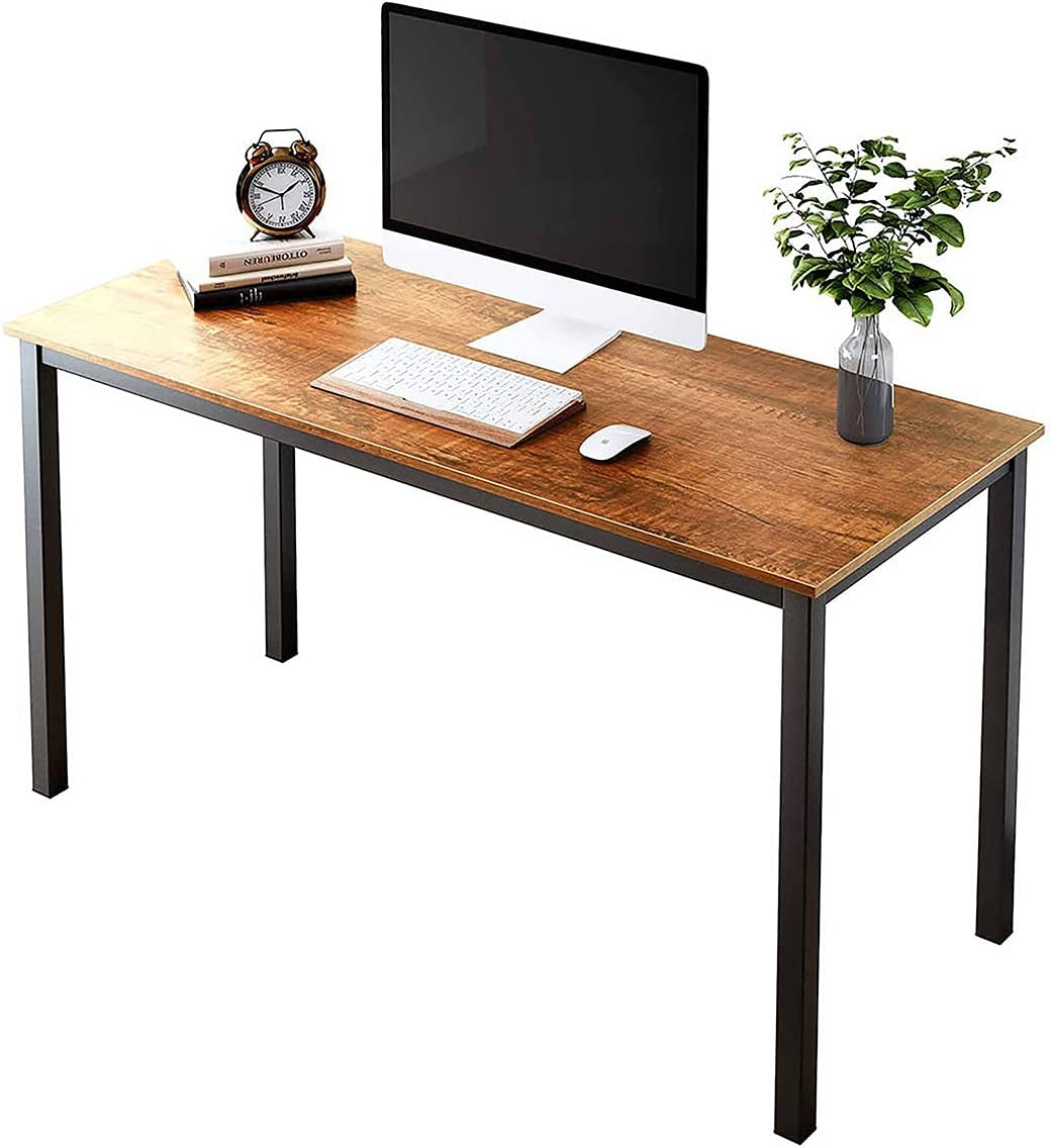 SAMTRA 55 inch Simple Wood Computer Desk Modern Study Writing Tables for Bedroom Home Office Writers or Student, Mauve