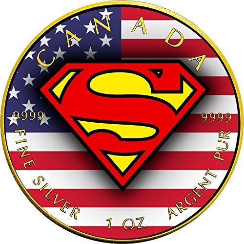 2016 CA Modern Commemorative SUPERMAN Maple Leaf 1 Oz Silver Coin 5$ Canada 2016 BU Brilliant (Modern Commemorative Proof)