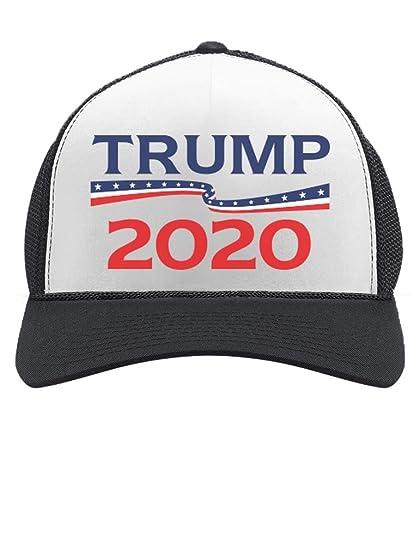 Tstars - Donald Trump President 2020 Campaign Trucker Hat Trucker Hat Mesh  Cap One Size Black 0ab2048480a