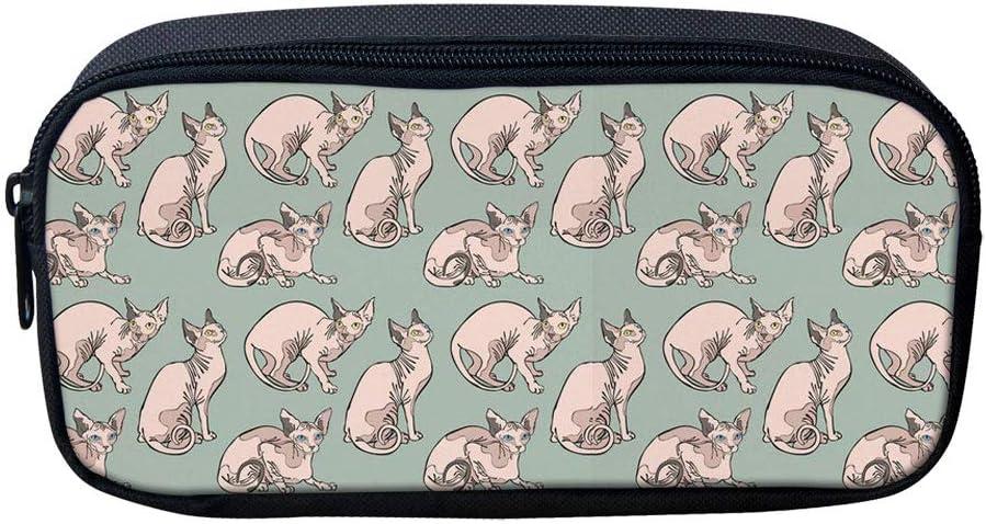 Dzulife Cute Alpaca Pencil Cases for Teenage Girls Women Small Makeup Bag Coin Purse School Supplies Pink