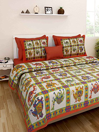 Best Double Bed Sheet Rajasthani Print Double Bed Sheets Hand Screen Flower  Block Printing 100%
