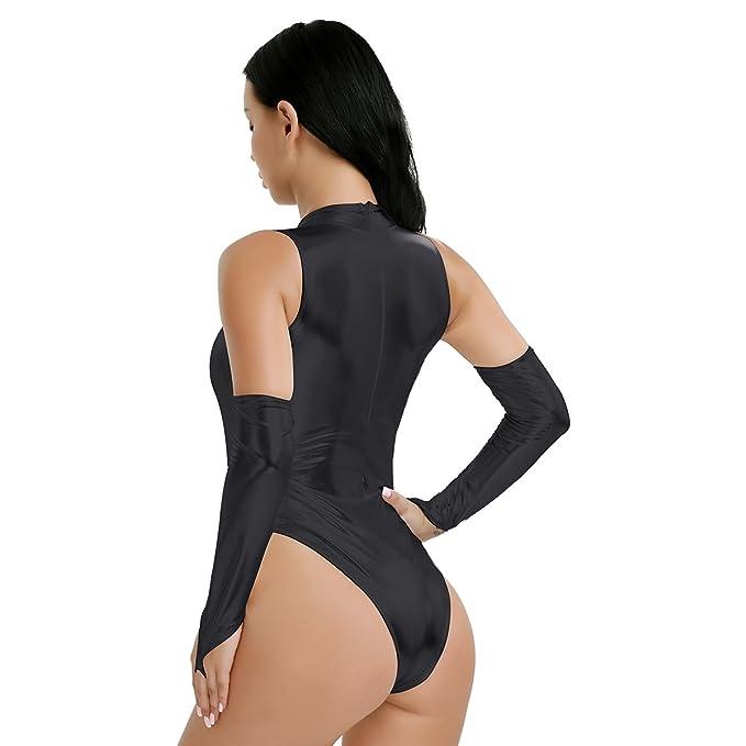 Amazon.com: iEFiEL – Disfraz Mujer Cuello De Tortuga Wetlook ...