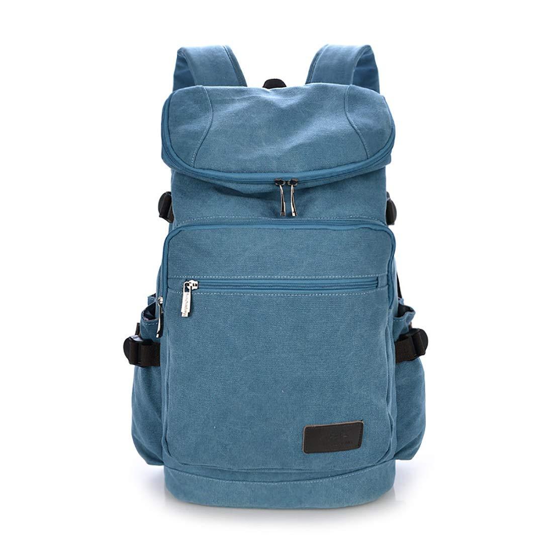 RABILTY レトロ 男女兼用 アウトドア キャンバスバッグ 旅行 大容量 バックパック L ブルー RABILTY B07MK1BWKZ ブルー