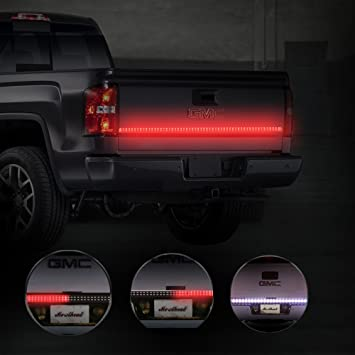 Mictuning 60 inch 2 row led truck tailgate light bar strip red mictuning 60 inch 2 row led truck tailgate light bar strip redwhite reverse aloadofball Choice Image