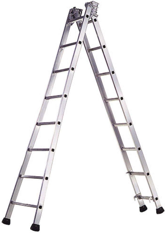 WOLFPACK LINEA PROFESIONAL 23020599 Escalera Aluminio Industrial Pronor 2 Tramos 7+7 Peldaños: Amazon.es: Bricolaje y herramientas