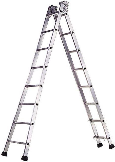WOLFPACK LINEA PROFESIONAL 23020600 Escalera Aluminio Industrial Pronor 2 Tramos 8+8 Peldaños: Amazon.es: Bricolaje y herramientas