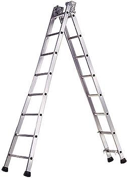 WOLFPACK LINEA PROFESIONAL 23020630 Escalera Aluminio Industrial Pronor 2 Tramos 14 Peldaños: Amazon.es: Bricolaje y herramientas