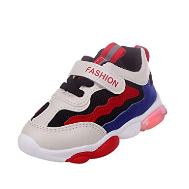 Baby LED Light Shoes for 1-6 Years Old,Autumn Boy Girl Kid Fashion Breathable Mesh Sneakers Luminous Shoes