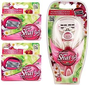 Dorco Shai SoftTouch 6- Six Blade Razor Shaving System- Value Pack (10 Cartridges + 1 Handle)