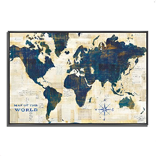 Tangletown fine art world map collage by sue schlabach gallery wrap tangletown fine art world map collage by sue schlabach gallery wrap canvas bluegoldtaupewhitegraytan usame gumiabroncs Choice Image