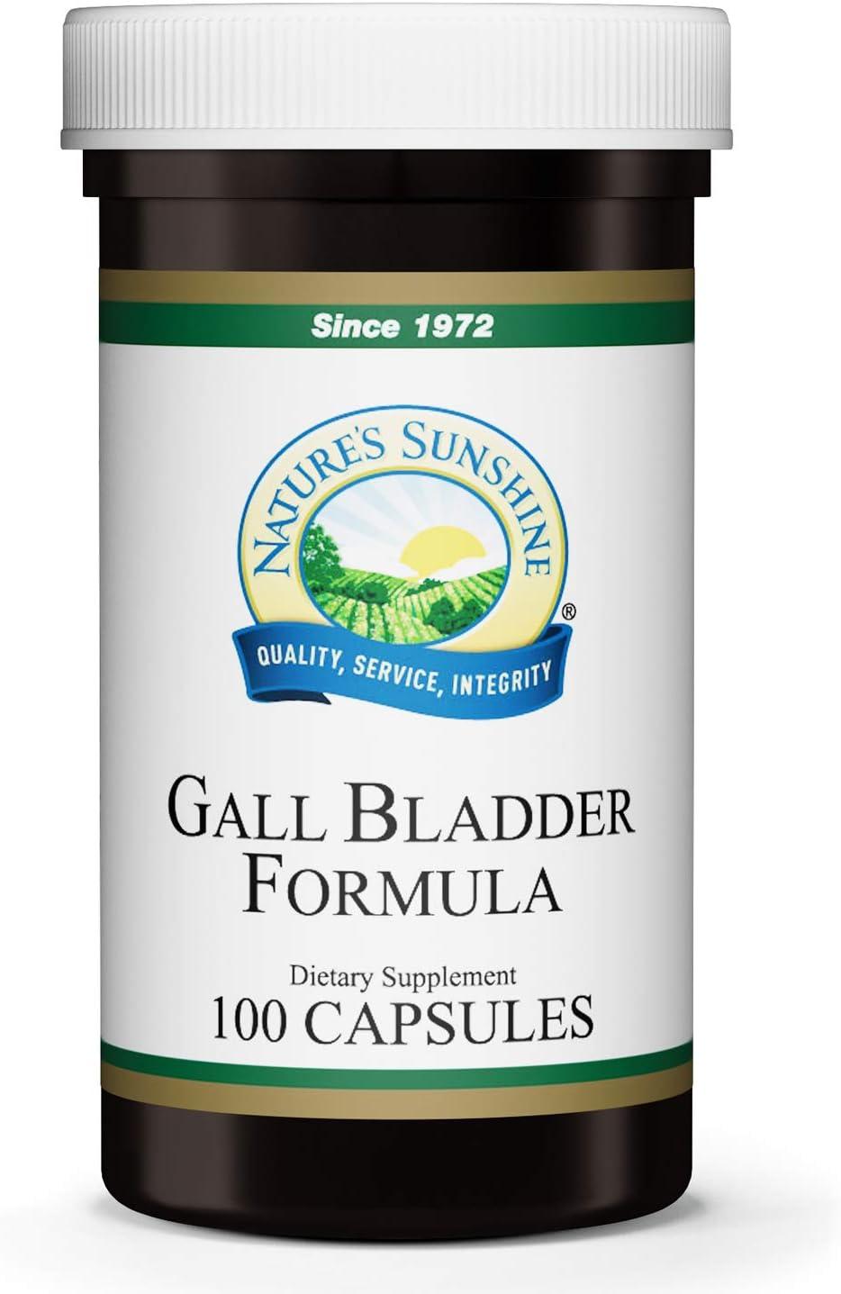 Nature's Sunshine Gall Bladder Formula 100 Capsules