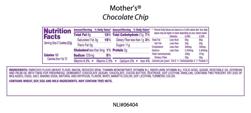 Amazon.com: Mothers Chocolate Chip Cookies, 11.5-Ounce Packages (Pack of 4)
