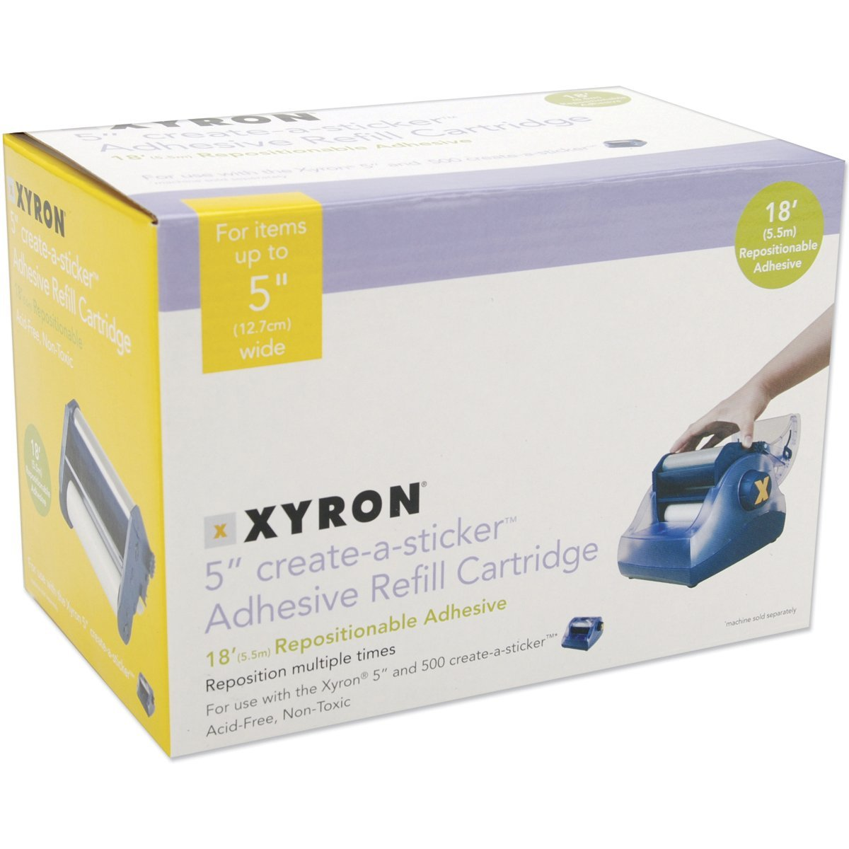 Xyron AT1506-18 Acid-Free Repositionable Adhesive Refill Cartridge for The XRN500 5-inch Create-a-Sticker, 18-feet