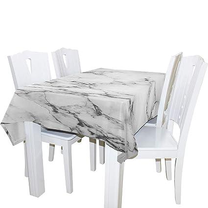Image Unavailable  sc 1 th 225 & Amazon.com: WOZO Rectangular Gray Marble Stone Tablecloth Table ...