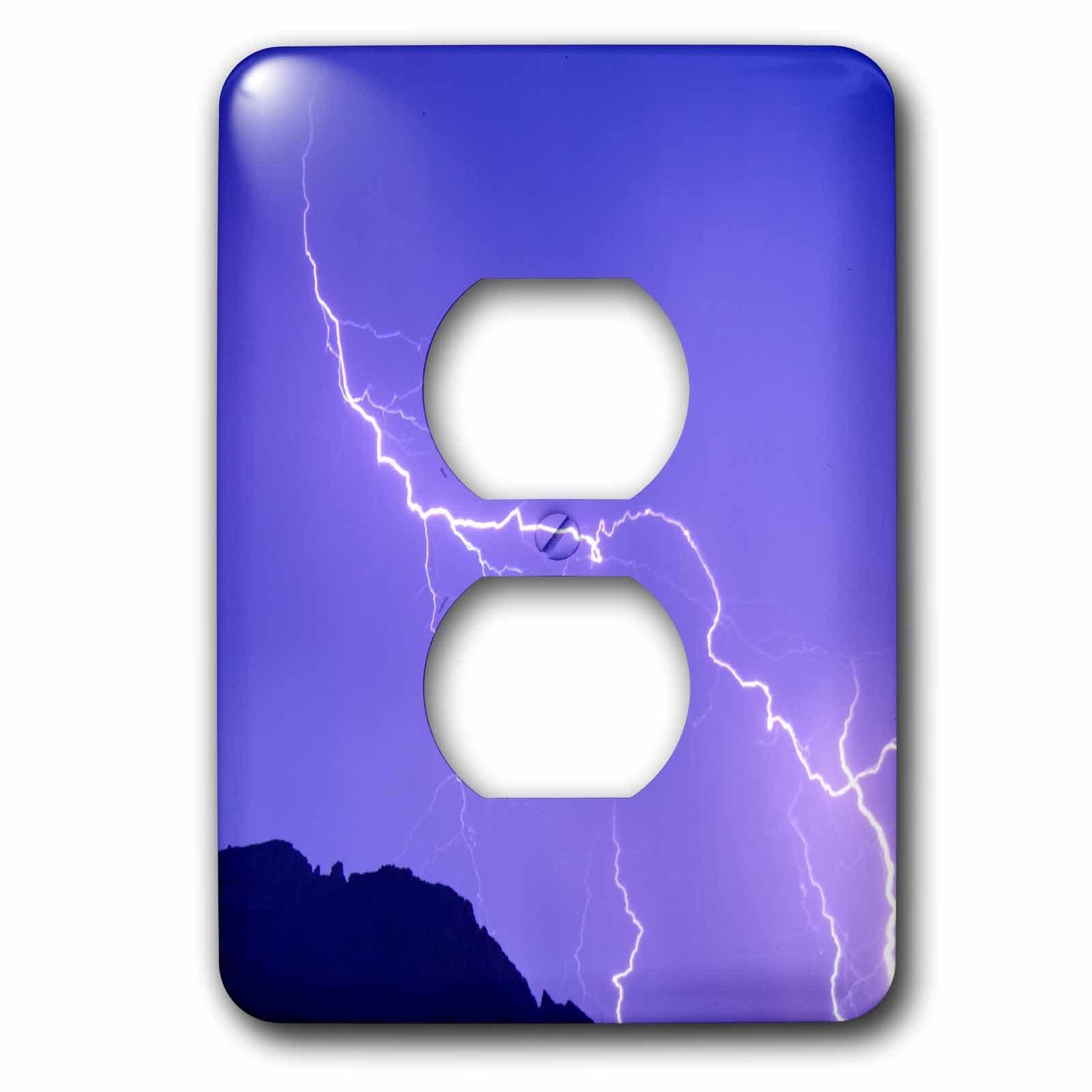 3dRose LSP_278454_6 USA, Arizona. Sedona, Lightning Plug Outlet Cover, Mixed