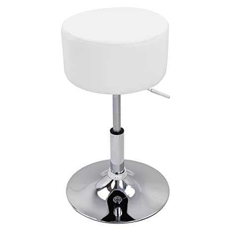 Remarkable Woltu Bar Stool Faux Leather Kitchen Stool Barstool White Seat Adjust 52 67Cm Gmtry Best Dining Table And Chair Ideas Images Gmtryco