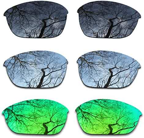 1b049fc9a7 ToughAsNails 3Pair Polarized Replacement Lenses for Oakley Half Jacket 2.0  Pack-BSE4