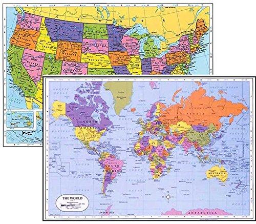 World USA Laminated Educational Placemats product image
