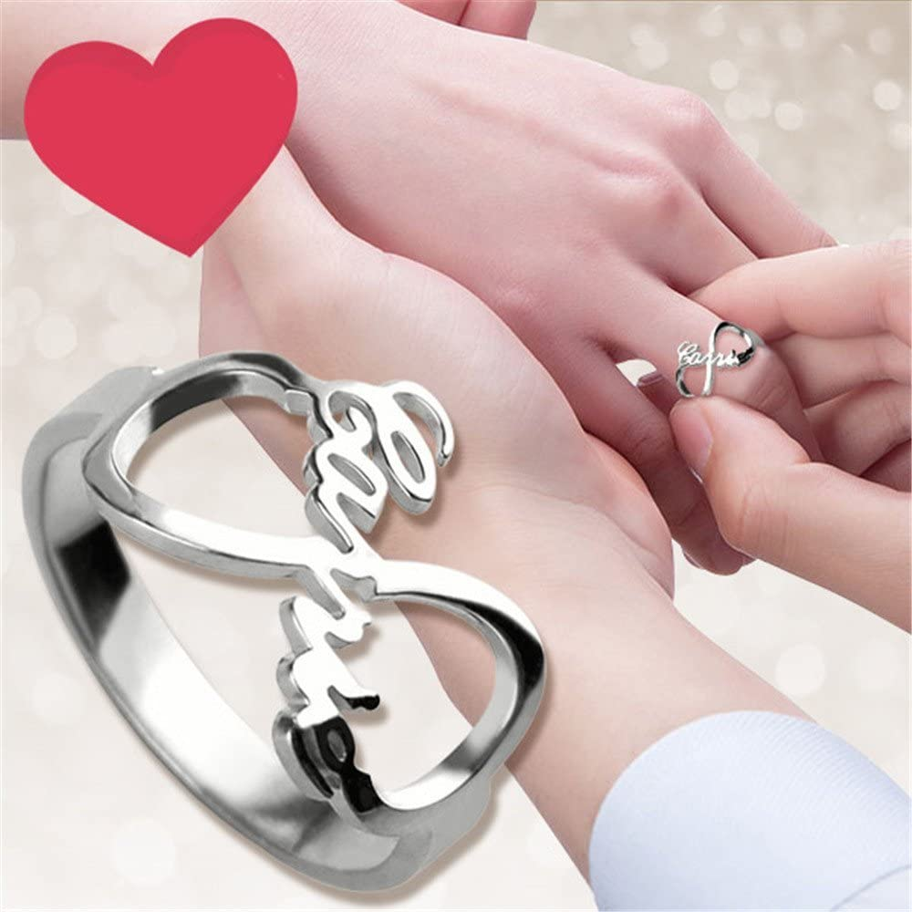 Yandam Fashion Rings Custom Infinity Nameplate Rings Custom Rings