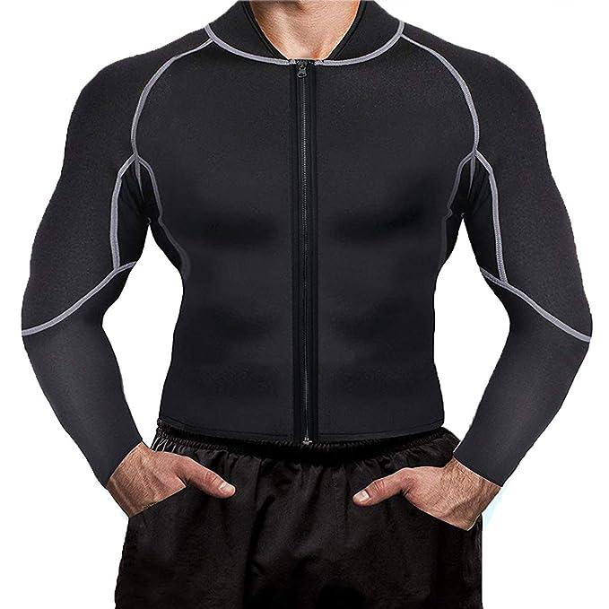 Amazon.com: Sudadera para hombre, traje de sauna, pérdida de ...