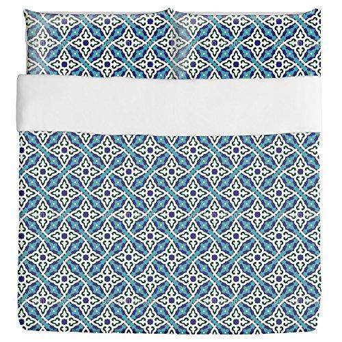 Flowers Of Koran Duvet Bed Set 3 Piece Set Duvet Cover - 2 Pillow Shams - Luxury Microfiber, Soft, Breathable by uneekee