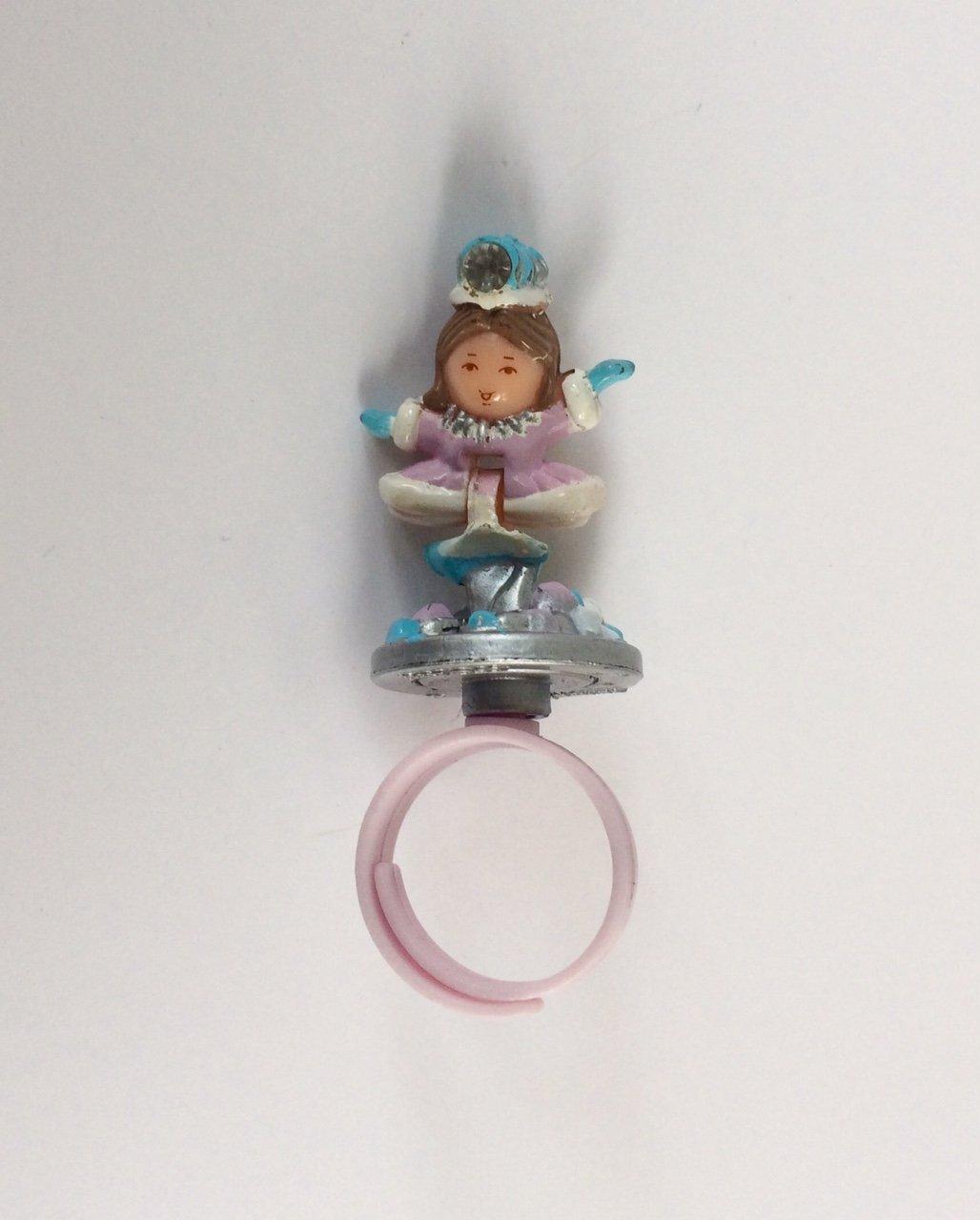 vintage polly pocket snow princess ring 1992 bluebird toys