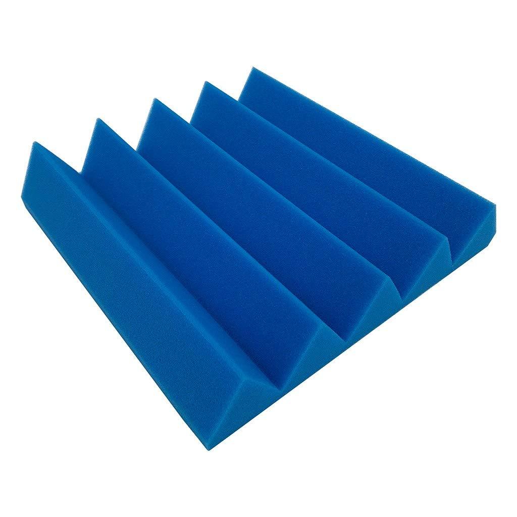 EOWEO Wall Sticker,Acoustic Foam Panel Sound Stop Absorption Sponge Studio KTV Soundproof(25x25x5cm,Blue)