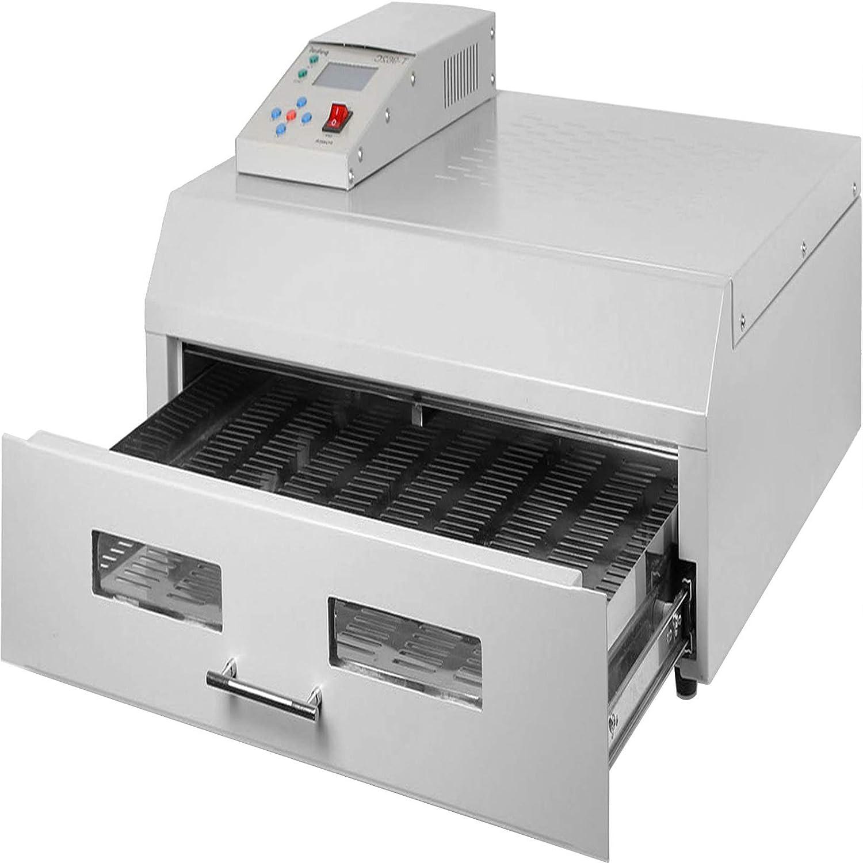 Happybuy Reflow Oven T962C 110V Reflow Soldering Machine 2800W 400 x 600 mm Professional Infrared Heater Soldering Machine Automatic Reflow Machine (T962C 110V)